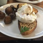 Mushrooms and poached eggs