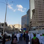 about 150m away to and from hotel to masjidil haram