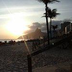 Puesta de sol en playa de Ipanema a 200mts del hotel