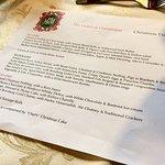 Christmas Day menu 2016