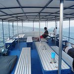 The top deck was a good place to lounge after diving.