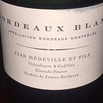 excellent and very affordable French white not on the menu