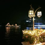 The view of Sala Rim Naam from the Mandarin Oriental