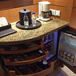 Coffee and mini bar area
