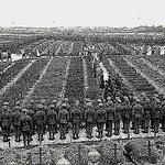 Les soldats anglais tués en France sont inhumés à Etaples (1918)