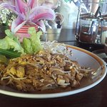 Phad Thai from the lodge's restaurant - super delish.