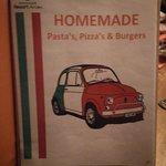 Foto van Menukaart Homemade Pasta's, Pizza's & Burgers