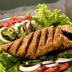 peixe frito petisco, ideal para acompanhar aquela cervejinha gelada