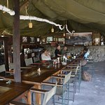 Dining tent, furnished with colonial period pieces, very comfortable