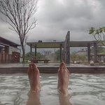 Bathing in the hot springs at Tien Lai