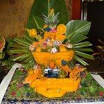 Deko zum Nationalfeiertag der Insel (schutzpatronin)