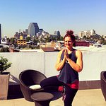 Lovely rooftop to gaze out and do yoga. Great view of the city