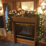 Decorated fireplace