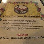 Mesa Restaurante Italiana Foto