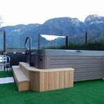 MIni-piscina idromassaggio in terrazza