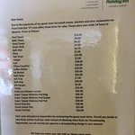 List of prices for various laundry articles if you take them - never seen anything like this bef