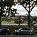 View of Citi Field from hotel front door