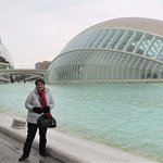 Complex of modern futuresque looking buildings called the Valencia City of Arts & Sciences