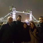 With Our Guide Stuart Dewey at the end of the day at Tower Bridge