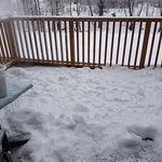 photo of the deck after clean up and prior to check out