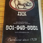 Front page of the menu
