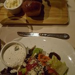 Salads and warm bread. YUMM