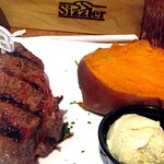 Sirloin Steak and Yam, Sizzler, Cameron Park, Ca