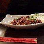 Black pepper seared tofu noodle bowl