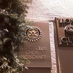 Rotary & Lions Clubs' plaques at front door