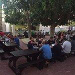 Buffet BBQ dinners outside