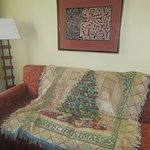 Sofa with our Christmas Blanket, Larkspur Landing, Folsom, CA