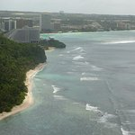 view down the hotel area of Tumon Bay