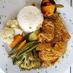 Eine leckere Mahlzeit mit Curry