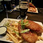 The hearty fish and chips