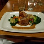 Lamb Wellington With Vegetables and Sweet Potato Puree