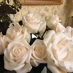 Fresh White Roses from the Bayberry Garden