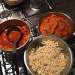 Ghoulash soup, chicken paprikash and spaetzle!