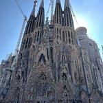 Quick stop to take photos at the Sagrada Familia.