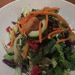 Alex's salad with cilantro vinegarette.