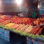 Food Vendors across the street