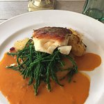 Tasty (but tiny) sea bass and samphire.