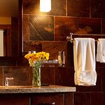 WBC Suites have tiled showers & deep soaking tubs