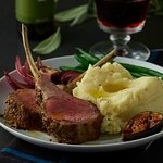 Roast Lamb, Mashed Potatoes, & Figs. Rub olive oil and your favorite herb generously into the la