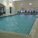 Pool has lap swim jets, very large.