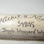 Our Favorite wine in wine Flight, Cork from Nickel and Nicekl, One of Wines in Wine Flight, Mort