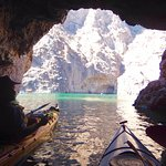 Kayaking into Emerald Cave in Black Canyon