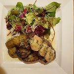 Surf and Turf. Beautiful ingredients combined with very clever salad dressing.