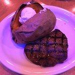 sweet potato with steak