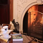 Relax in our lounge, which has a real fire during the winter months.