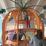 Giant carrot/cage to climb in